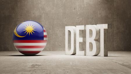subprime mortgage crisis: Malaysia High Resolution Debt  Concept