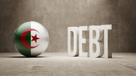 Algeria High Resolution Debt  Concept