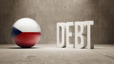 Czech Republic High Resolution Debt  Concept