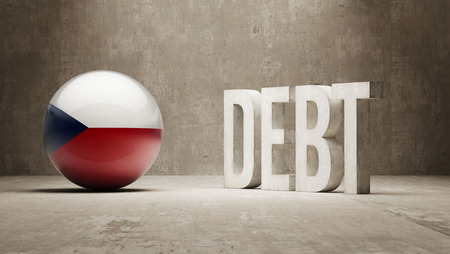 subprime: Czech Republic High Resolution Debt  Concept