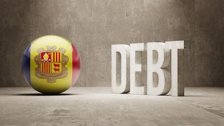 subprime: Andorra High Resolution Debt  Concept Stock Photo