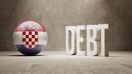 subprime: Croatia High Resolution Debt  Concept Stock Photo