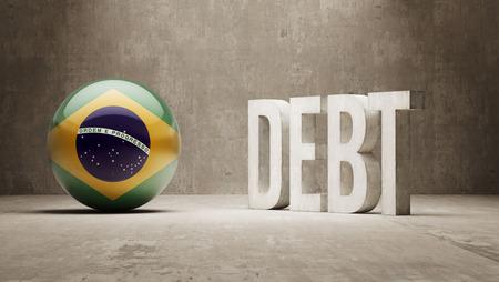 Brazil High Resolution Debt  Concept