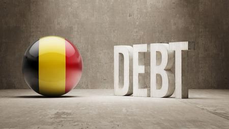 Belgium High Resolution Debt  Concept Stock Photo