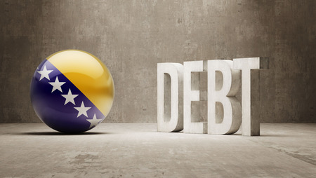 Bosnia and Herzegovina High Resolution Debt  Concept Stock Photo