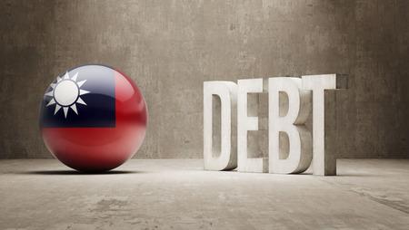 subprime: Taiwan High Resolution Debt  Concept Stock Photo