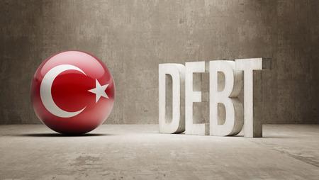 subprime: Turkey High Resolution Debt  Concept Stock Photo