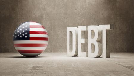 United States High Resolution Debt  Concept