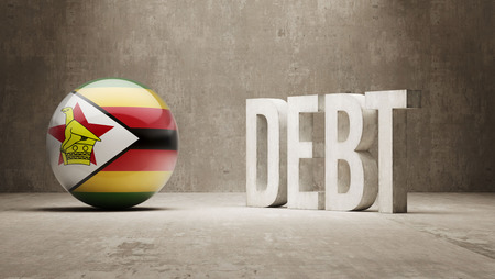 subprime mortgage crisis: Zimbabwe High Resolution Debt  Concept Stock Photo