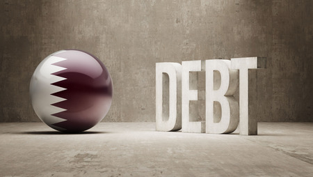 subprime: Qatar High Resolution Debt  Concept Stock Photo