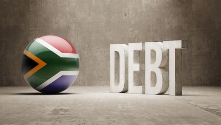 subprime: South Africa High Resolution Debt  Concept