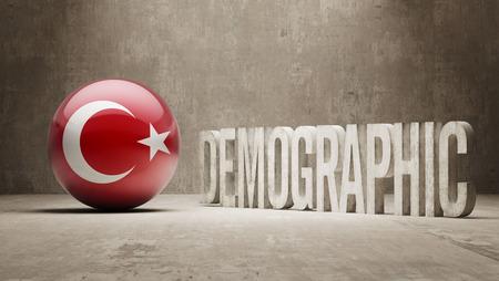 demographic: Turchia ad alta risoluzione demografici Concetto
