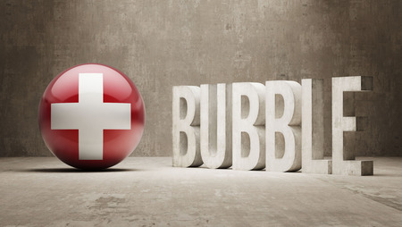 overvalued: Switzerland High Resolution Bubble  Concept