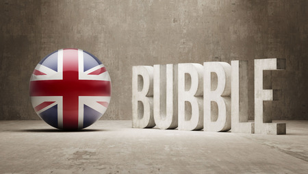 overvalued: United Kingdom High Resolution Bubble  Concept Stock Photo