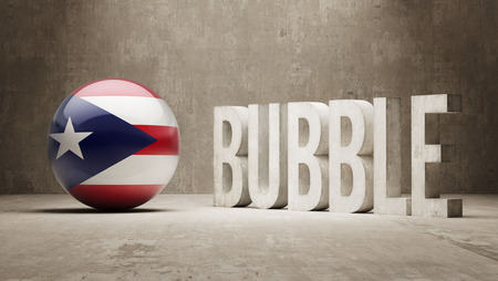 overvalued: Puerto Rico High Resolution Bubble  Concept