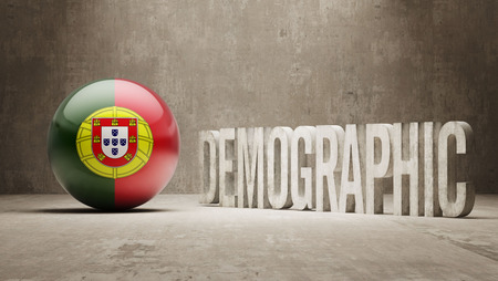 demographic: Portogallo Alta Risoluzione demografici Concetto Archivio Fotografico