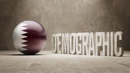 demographic: Qatar ad alta risoluzione demografici Concetto