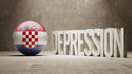 collapsing: Croatia High Resolution Depression  Concept Stock Photo