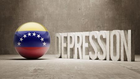 collapsing: Venezuela High Resolution Depression  Concept Stock Photo