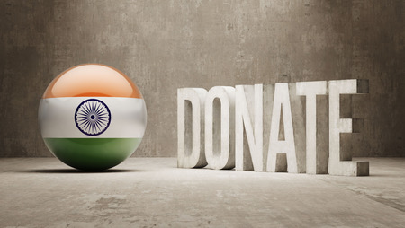 India High Resolution Donate  Concept photo