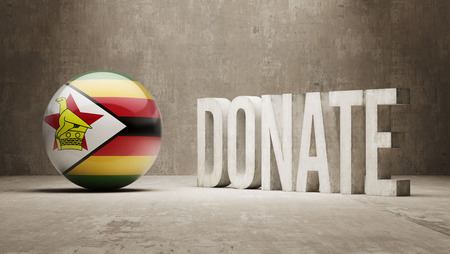 african solidarity: Zimbabwe High Resolution Donate  Concept