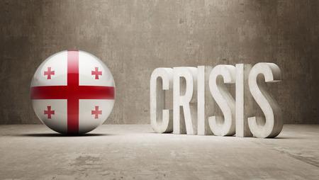 subprime: Georgia High Resolution Crisis Concept Stock Photo