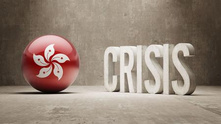 subprime: Hong Kong High Resolution Crisis Concept