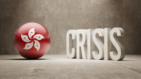 Hong Kong High Resolution Crisis Concept