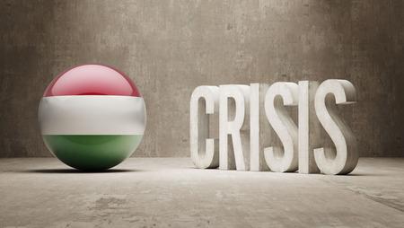 subprime: Hungary High Resolution Crisis Concept
