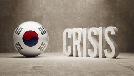 subprime: South Korea High Resolution Crisis Concept