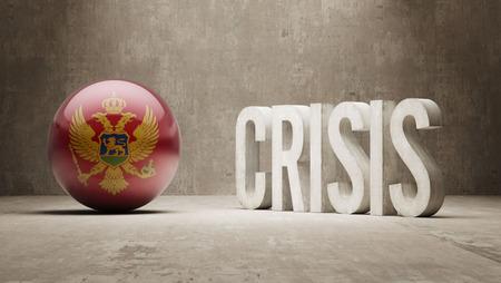 subprime mortgage crisis: Montenegro High Resolution Crisis Concept