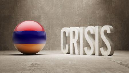 subprime: Armenia High Resolution Crisis Concept Stock Photo