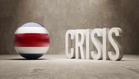 subprime: Costa Rica High Resolution Crisis Concept