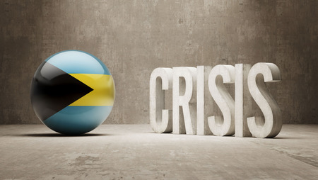 deflation: Bahamas High Resolution Crisis Concept
