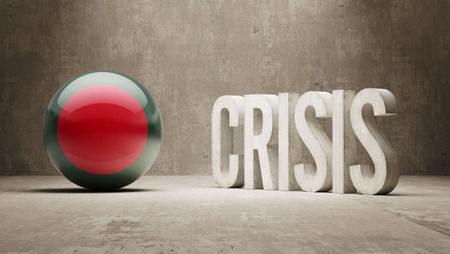 subprime mortgage crisis: Bangladesh High Resolution Crisis Concept Stock Photo