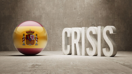 subprime mortgage crisis: Spain High Resolution Crisis Concept
