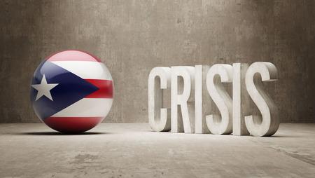 subprime: Puerto Rico High Resolution Crisis Concept
