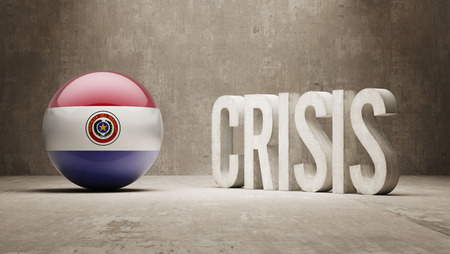subprime mortgage crisis: Paraguay High Resolution Crisis Concept Stock Photo