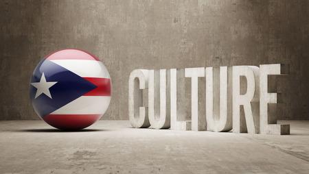 Puerto Rico High Resolution Culture Concept