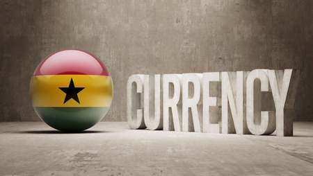 Ghana Alta Resoluci�n moneda Concept photo