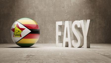 zimbabwe: Zimbabwe High Resolution Easy  Concept