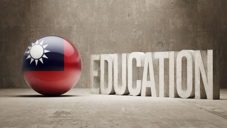 graduate asian: Taiwan High Resolution Education  Concept
