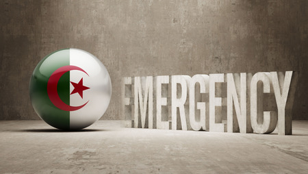 health care funding: Algeria High Resolution Emergency  Concept