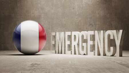 health care funding: France High Resolution Emergency  Concept
