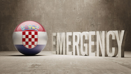 health care funding: Croatia High Resolution Emergency  Concept Stock Photo
