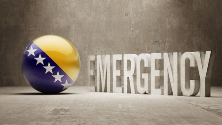 health care funding: Bosnia and Herzegovina High Resolution Emergency  Concept