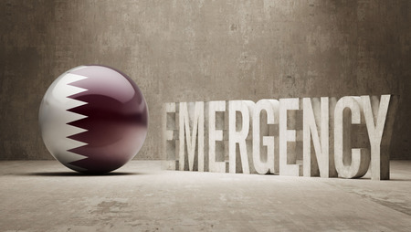 health care funding: Qatar High Resolution Emergency  Concept
