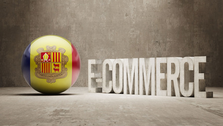 Andorra High Resolution E-Commerce  Concept Stock Photo