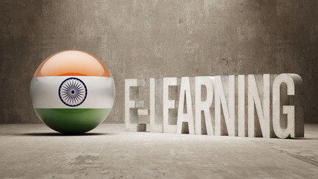chakra: India High Resolution E-Learning  Concept