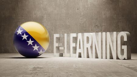 Bosnia and Herzegovina High Resolution E-Learning  Concept photo